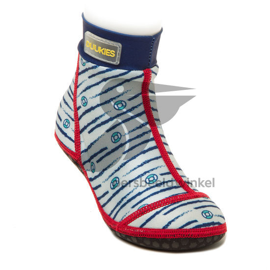 Beachsocks marine navy red