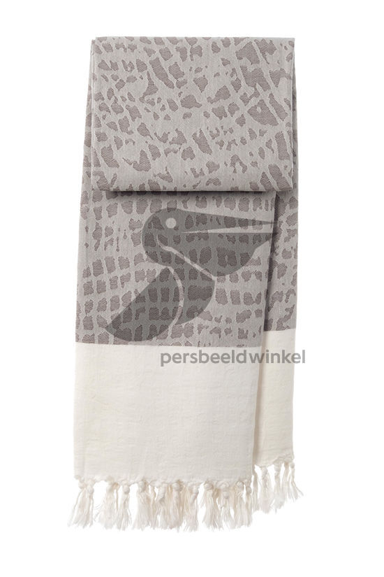 Hammamdoek Graphic Snake - Light brown