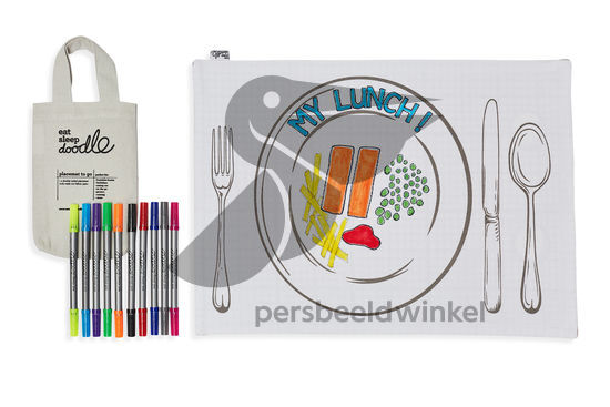 Placemat to go incl 10 uitwasbare stiften