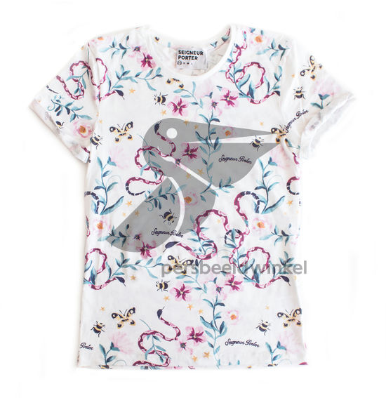 Floral Snake Allover Tee