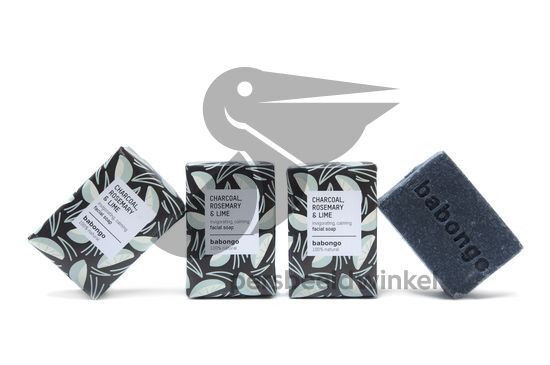 Facial soap charcoal rosemary lime