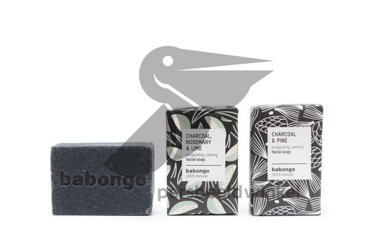 Charcoal facial soap pine & rosemarylime
