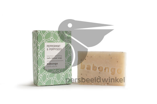 Bath soap peppermint & poppyseed