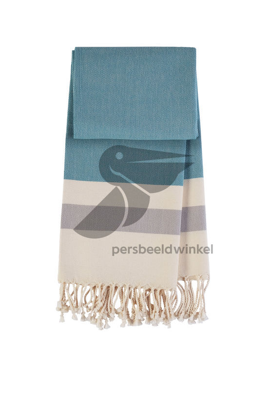 Hamamdoek Hamptons - Petrol green-grey