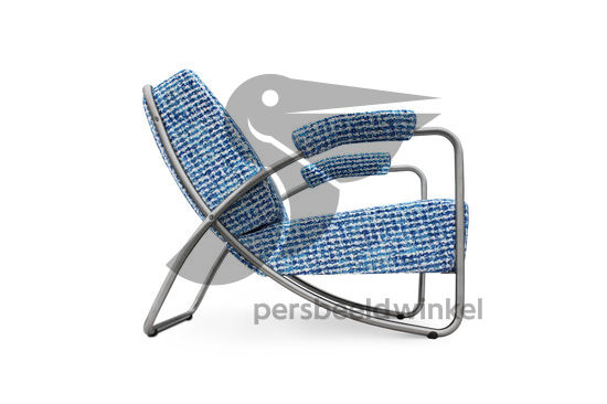Chroombuis fauteuil Dyker 20 blauw